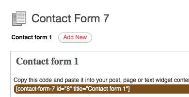 Contactform 7
