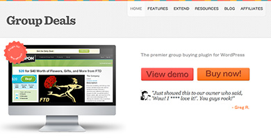 Group deals plugin groupon